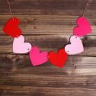 Набор для творчества — гирлянда своими руками «Сердечки», пластиковая игла
