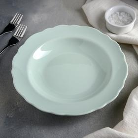 Тарелка глубокая 500 мл Lar, 22 см, цвет мятный