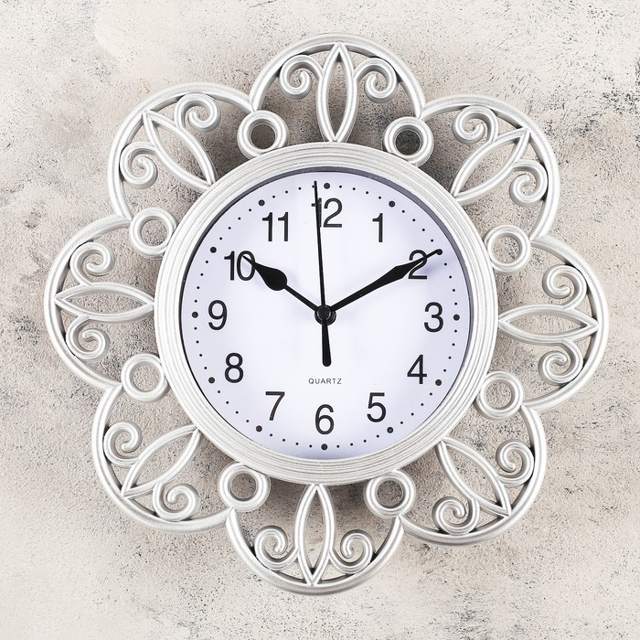 Часы настенные, серия Интерьер, Арезон, дискретный ход, 25х25 см, микс