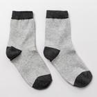 Носки детские шерстяные, цвет серый, р-р 16-17 (4-6 лет)