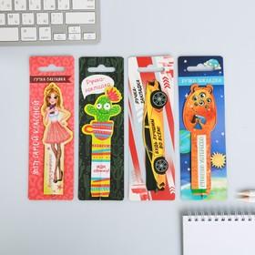 Бумажная ручка-закладка  МИКС , 19 х 6 см Ош