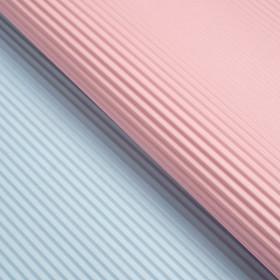 Бумага гофрированная, розово-голубая, 50 см х 66 см Ош