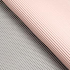 Бумага гофрированная, розово-серая, 50 см х 66 см Ош