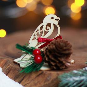 Настольный сувенир деревянный «Снегирь» Ош