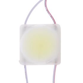 Светодиодный модуль SMD5730, 2,5 Вт, COB, 230 Lm, линза 160 град, IP65, 6500K, 12 V БЕЛЫЙ