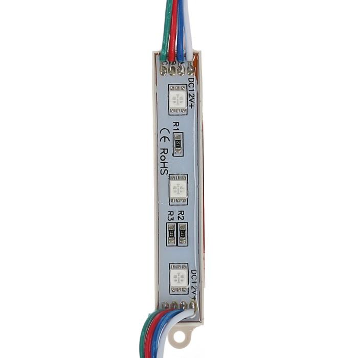 Светодиодный модуль SMD5050, 3 LED, 15 Lm1LED, 1Wмодуль, IP65, RGB