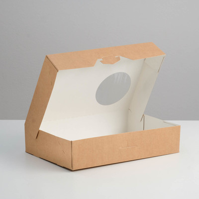 Упаковка для пончиков, 18,5 х 27 х 5,5 см - Фото 1