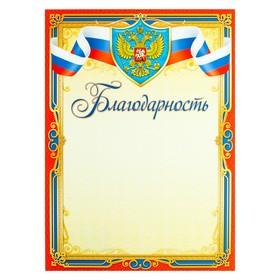 Благодарность 'Символика РФ' красная рамка, триколор Ош