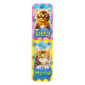 Закладки 'Кошки' глиттер, два котёнка Ош