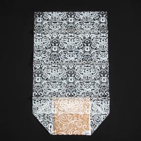 Пакет подарочный с жестким дном «Новогодние узоры», 14 × 14 × 50 см Ош