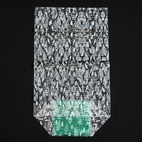 Пакет подарочный с жестким дном «Новогодние елочки», 14 × 14 × 50 см Ош