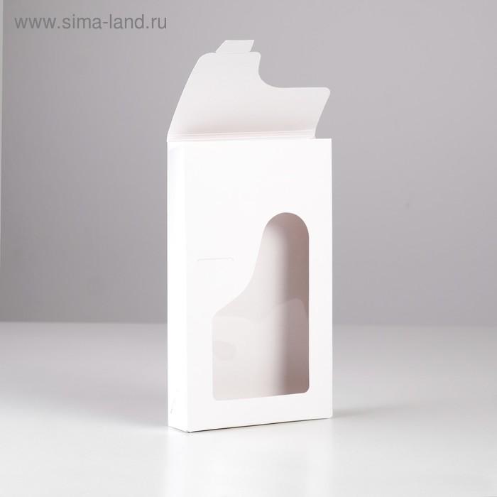 Кондитерская упаковка без печати с окном, 12 х 3 х 20 см