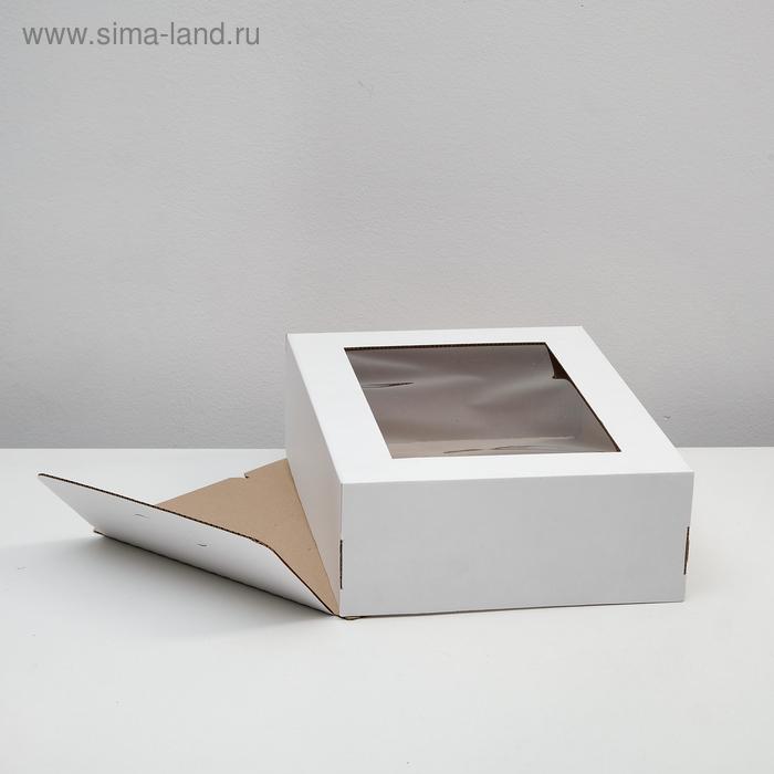 Кондитерская упаковка с окном, 39 х 29 х 12 см