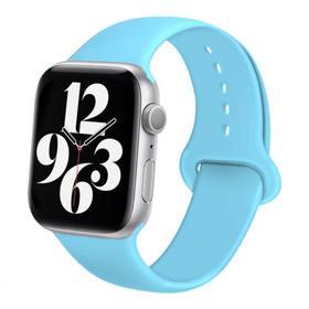 Ремешок для часов , 38 мм, l=24 см, голубой, силикон Ош