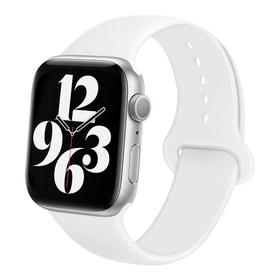 Ремешок для часов , 42 мм, l=24 см, белый , силикон Ош