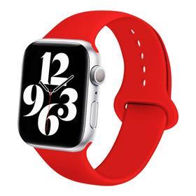 Ремешок для часов , 42 мм, l=24 см, красный, силикон Ош