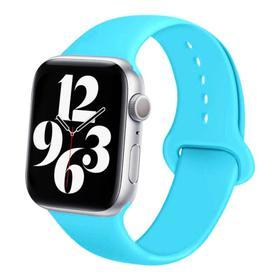 Ремешок для часов , 42 мм, l=24 см, голубой, силикон Ош