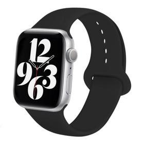 Ремешок для часов , 42 мм, l=24 см, черный, силикон Ош