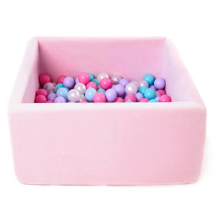 Сухой бассейн Airpool Box без шариков, цвет розовый