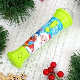 Новогодний микрофон «С Новым годом», световые и звуковые эффекты, в пакете, зелёный Ош