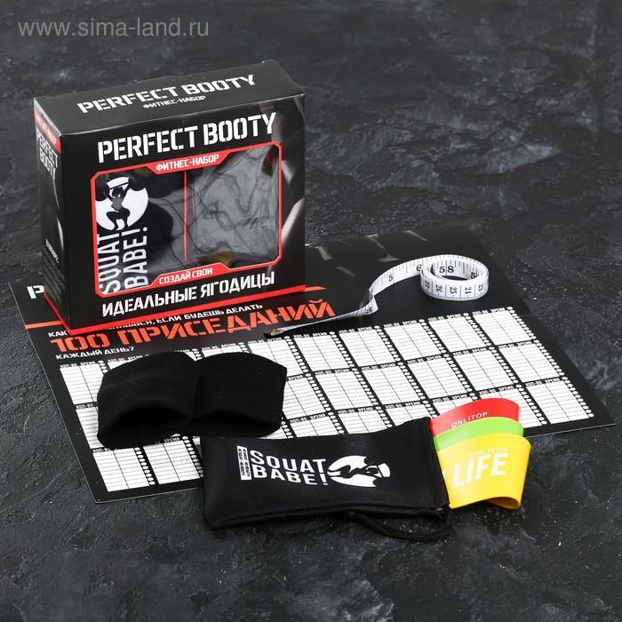 Набор Perfect booty: фитнес-резинки 3 шт., чехол, измерительная лента, напульсники, календарь тренировок