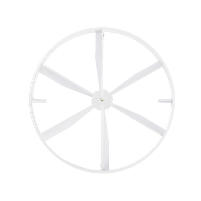 Пластина затворная VENTS 100 КО, d=100 мм, цвет белый