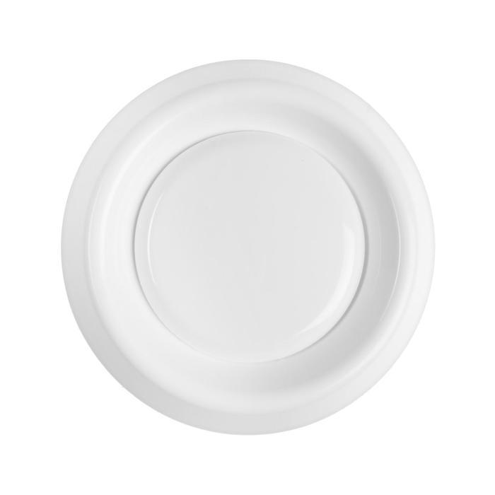 Анемостат РВС АH 100. d=100 мм, с фланцем, цвет белый
