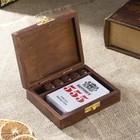 """Сувенирный набор """"Колода карт и игральные кубики"""" 12,5х10,5х3,7 см"""