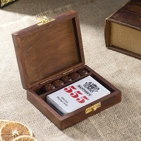 Сувенирный набор 'Колода карт и игральные кубики' 12,5х10,5х3,7 см Ош