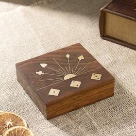 """Сувенирный набор """"Колода карт и игральные кубики"""" 13х12х4 см"""