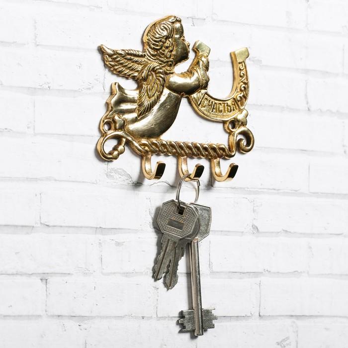 """Ключница """"Ангел с подковой"""", 10 х 8 см"""