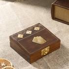 "Сувенирный набор ""Колода карт + кости"" (5 кубиков) 12х10,5х4,5 см"