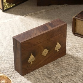 Сувенирный набор 'Две колоды карт + кости' (5 кубиков) 16,5х11х4 см Ош