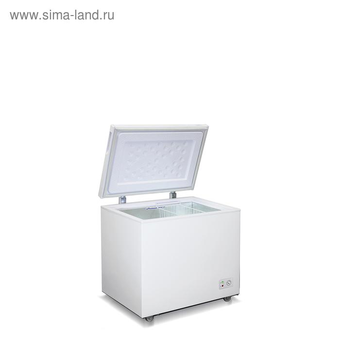 Морозильный ларь Бирюса 260 KX, 240 л, 1 корзина, глухая крышка, белый