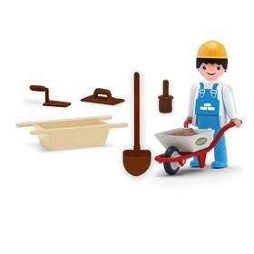 Игрушка «Строитель-каменщик» с зеброй и аксессуарами, 8 см