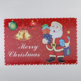 Салфетка кухонная Real 3D «Рождественский Санта», 45×40 см, цвет красный Ош