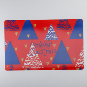 Салфетка кухонная Real 3D «Рождество», 45×40 см, геометрия, цвет красный Ош