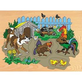 Модель деревянная сборная «Деревенский двор»