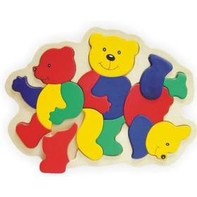 Модель деревянная сборная «Медведи»