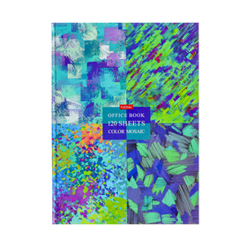 Бизнес-блокнот А4, 120 листов, Color mosaic, твёрдая обложка, глянцевая ламинация, 5 цветных блоков