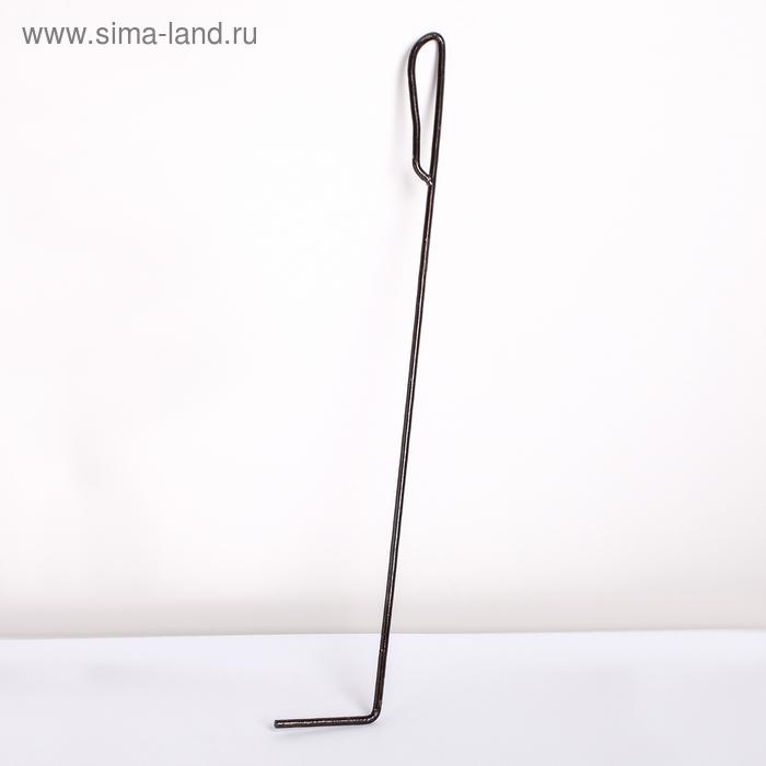 """Кочерга для камина 70 см """"Эконом"""", D=8 мм"""