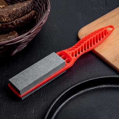 Точилка для металлических ножей с ручкой Доляна, 19×2,5 см - Фото 1