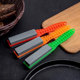 Точилка для металлических ножей с ручкой Доляна, 19×2,5 см Ош