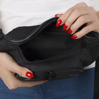 Сумка поясная, отдел на молнии, 3 наружных кармана, цвет чёрный - Фото 6