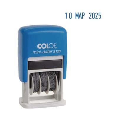 Датер-мини автомат пластик, высота шрифта 3,8 мм, месяц буквами, русский, блистер S 120 - Фото 1