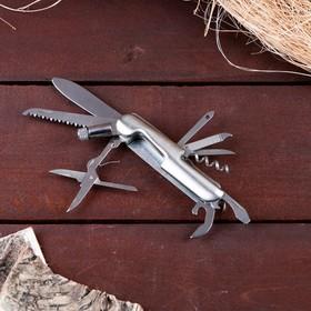 Нож швейцарский 11в1 с фонариком Ош