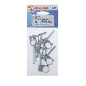 Хомут сантехнический MasterProf, 16-18 мм, пластиковый, с дюбелем, набор 5 шт. Ош