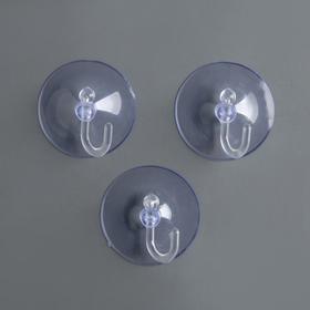 Крючок на вакуумной присоске «Круг», d=4,2 см, цвет прозрачный Ош