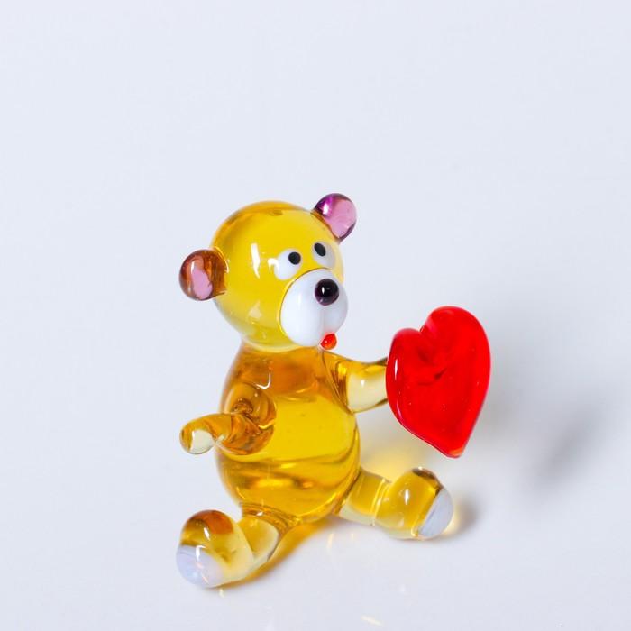 Сувенир из стекла Мишка