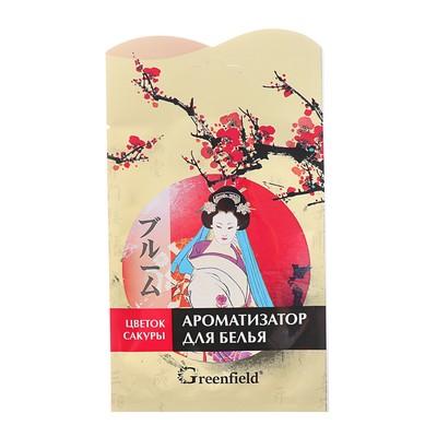 Освежитель воздуха Ароматизатор для белья  Greenfield Цветок Сакуры, 15 г